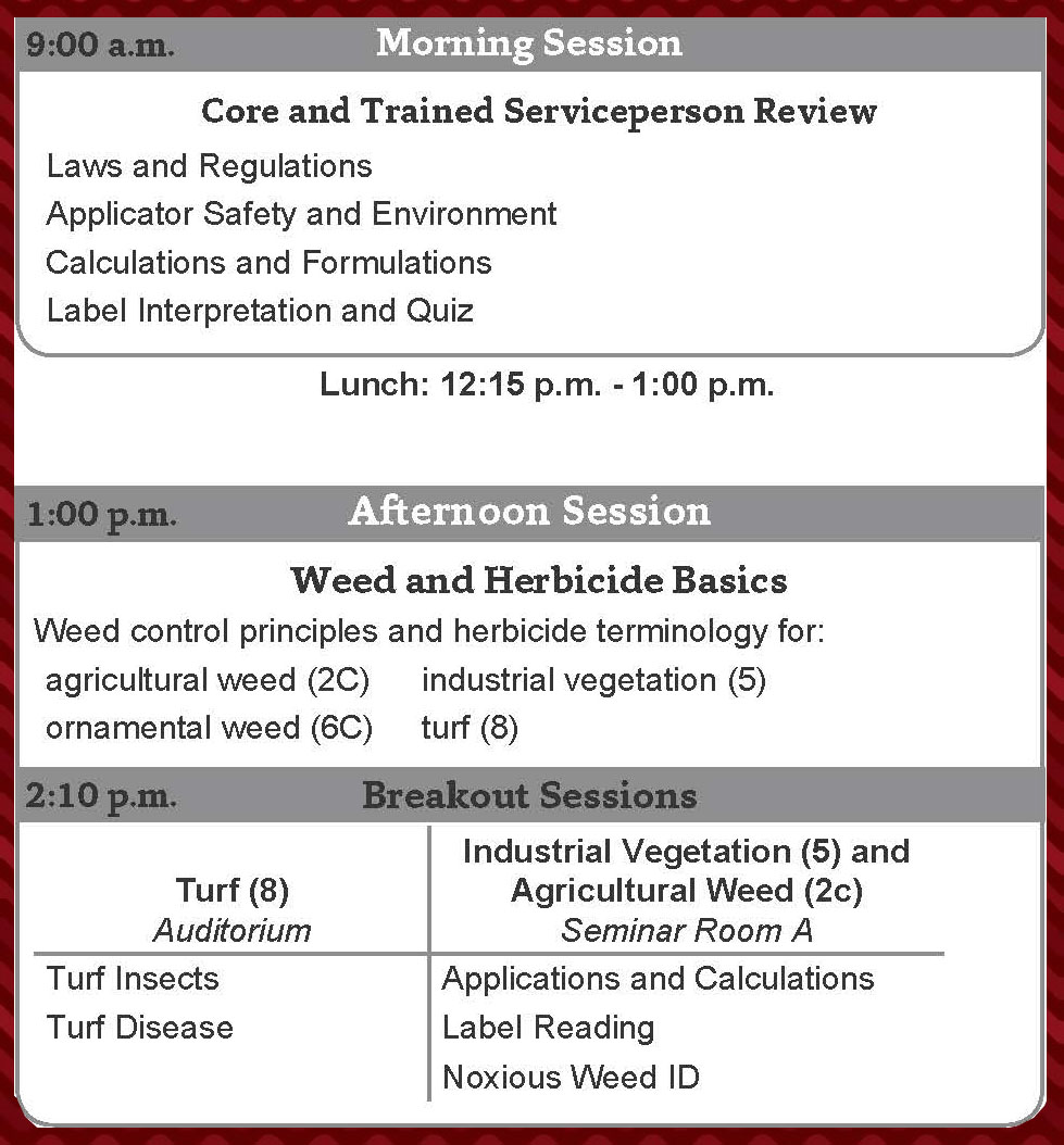 New Pesticide Applicator Training August 9 2018 Pesticide